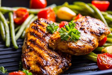 46814171-grilled-chicken-breast-in-different-variations-