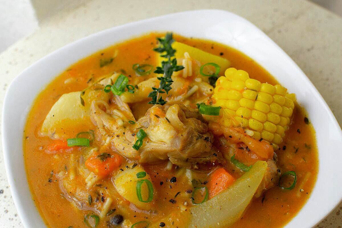 Jamaican Chicken Pumpkin Soup Recipe Jamaica Kitchen